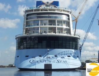 """Die """"Quantum of the Seas"""" beim Ausdocken – Aktuelle Bilder"""