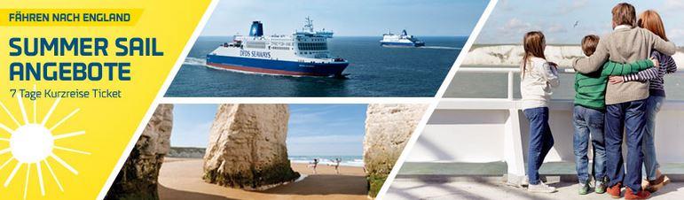 Sommer Angebot – Große Rabatte auf DFDS England Fähren
