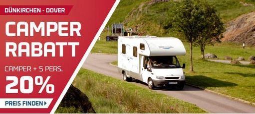 Dünkirchen – Dover: 20% Rabatt auf die DFDS Fähren für alle Camper