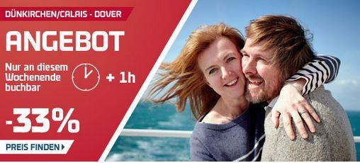 Nur dieses Wochenende: 33% auf die Calais/Dünkirchen – Dover Fähren sparen!